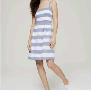 LOFT Blue and White Stripped Dress